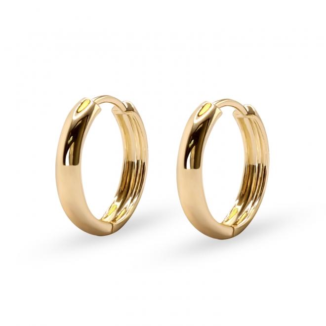 Solid Gold Classic Hoop Earrings