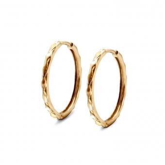 Diamonds Pattern Hoop Earrings