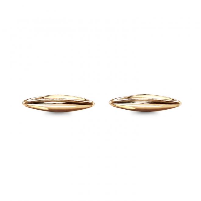 Plain Drop Gold Stud Earrings