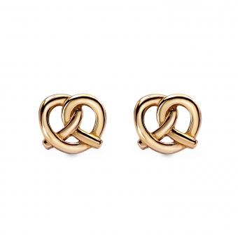 Pretzels Shape Gold  Stud Earring