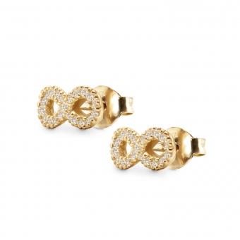 Infinity Shape Stud Earring with 42 Diamonds