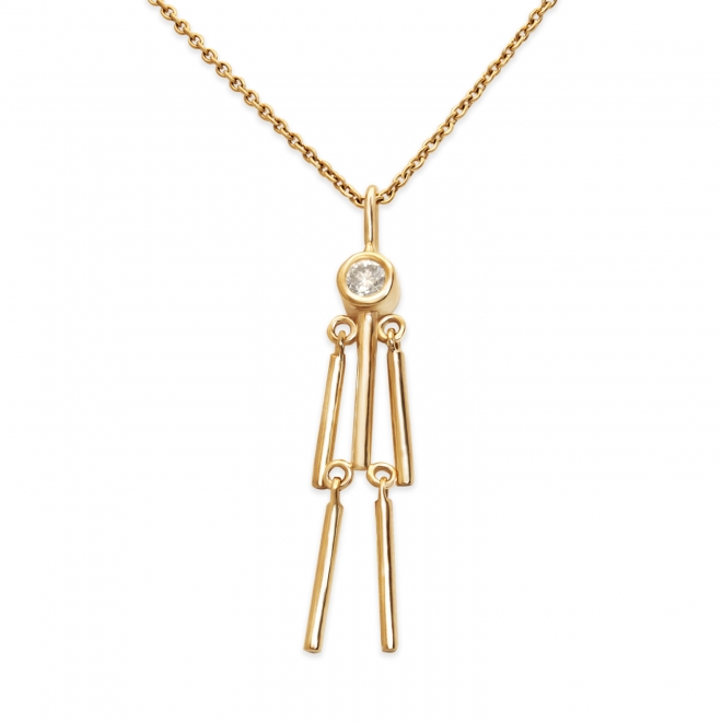 Hangman Necklace with Diamond