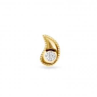 2mm Diamond Helix Piercing Drop Shape