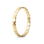 Round Pattern Simple Gold Ring