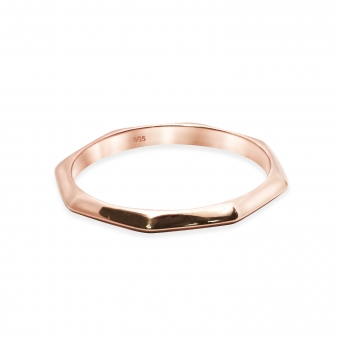 Solid Gold Plain Octagon Ring