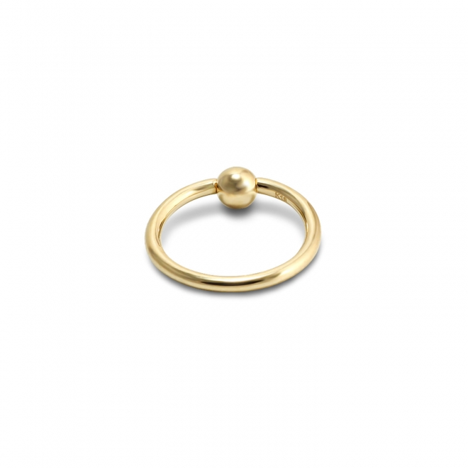 Gold Circular Barbell with Solid Ball (BCR)