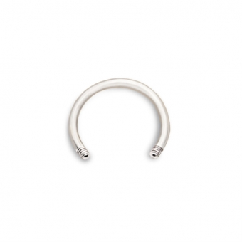 Gold Circular Barbell Screw (BCRS-Y)
