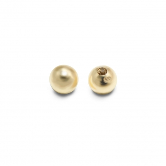 Solid Gold Internal Threading Ball