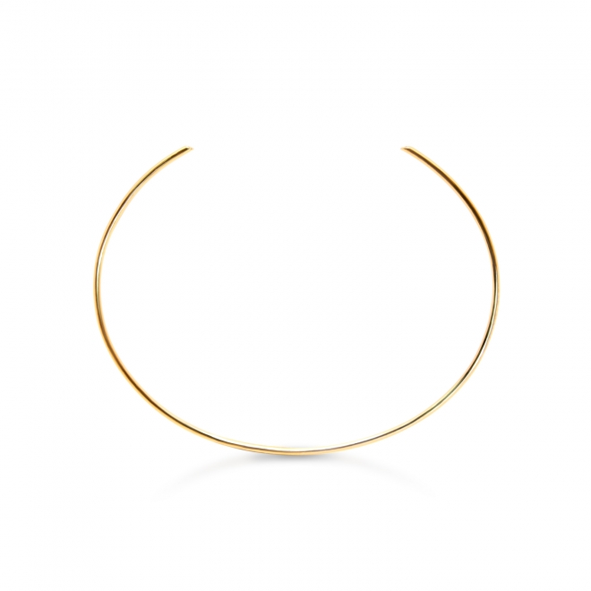 Gold Tube Bracelet With 2 x 1.2mm Gemstones