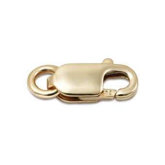 Gold Flat Clasp Closure For Chain