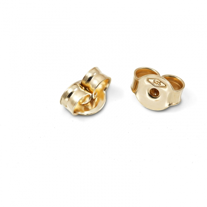 Gold Butterfly Closure 4.5mm For Stud Earring