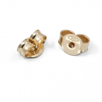 Gold Butterfly Closure 5mm For Stud Earring