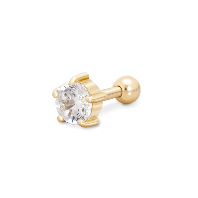 Gold Helix Piercing with 4.5mm Gemstone