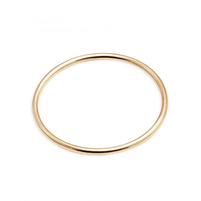 Delicate Plain Gold Ring