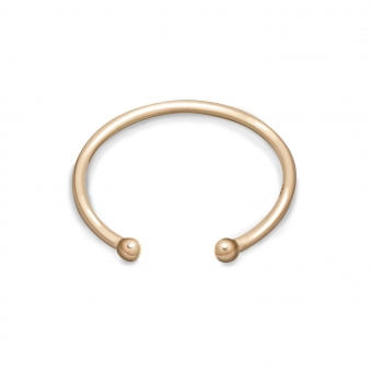 Open 2mm Gold Balls Ring