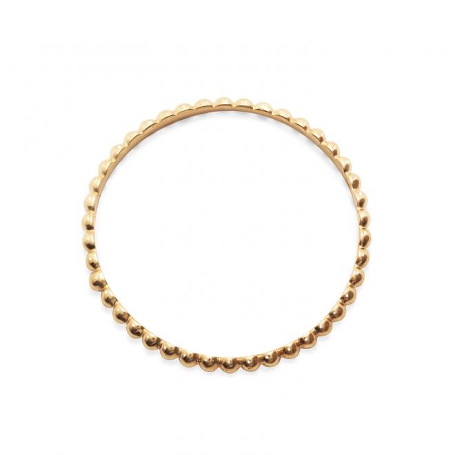 Gold Plain Ball Ring
