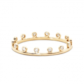 Gold Crown Ring With Gemstones