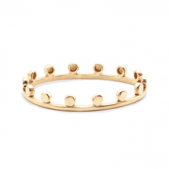 Gold Double Matching Crown Ring
