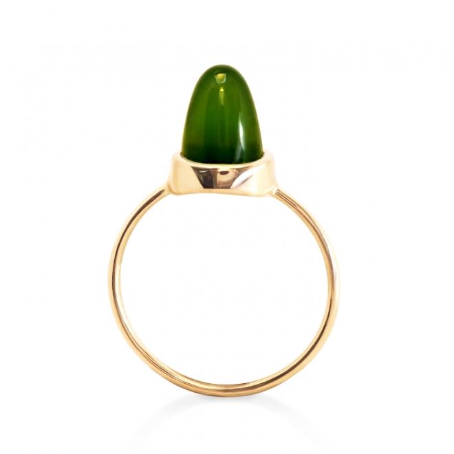 10mm Cabochon Cut Gold Ring