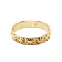 Eight Petals Pattern Gold Ring
