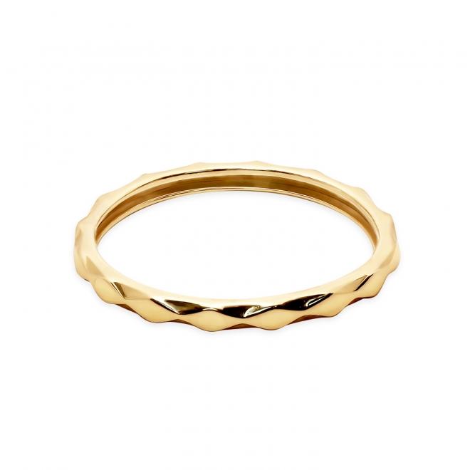 Diamond Shaped Pattern Gold Ring