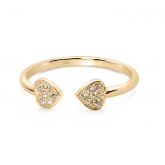 Duo Fluorescent Corazón Ring