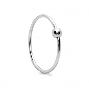 3mm Hollow Ball slide on a 1mm wire ring