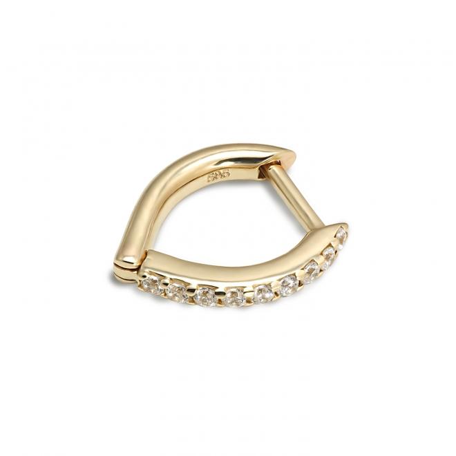 Gold Diamond Huggie Earrings (By Piece)