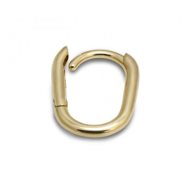 Gold Oval Huggie Earrings (By Piece)