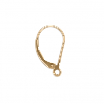 Gold Lever Back Closure For Earrings
