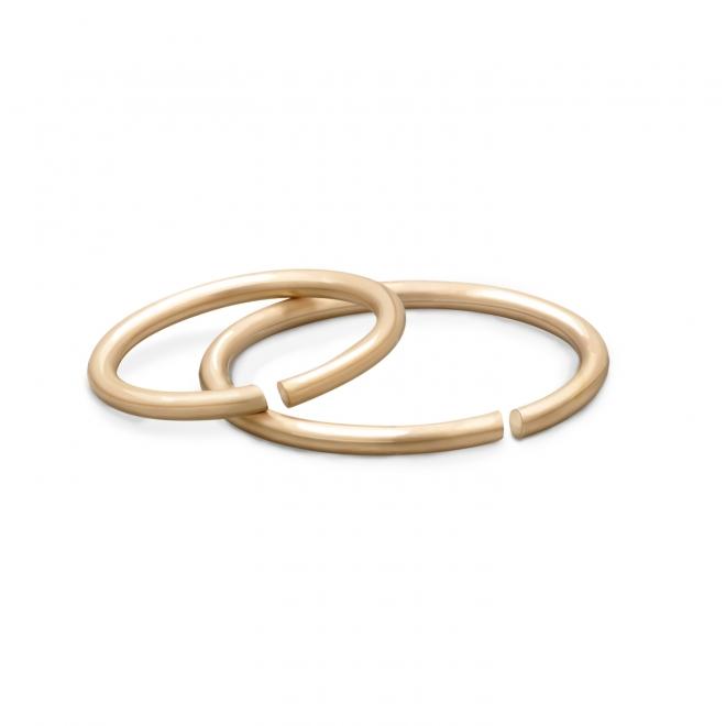 Gold Circular Nose Hoop