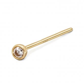 Gold Diamond Nose Stud 2.2mm Gemstone