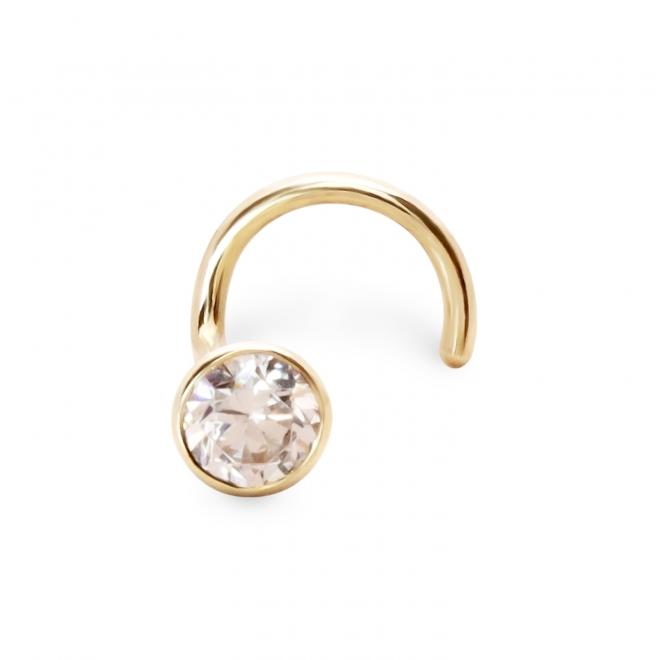 Nose Stud light weight with 2.2mm gemstone