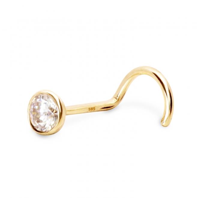 Nose Stud light weight with 2.4mm gemstone