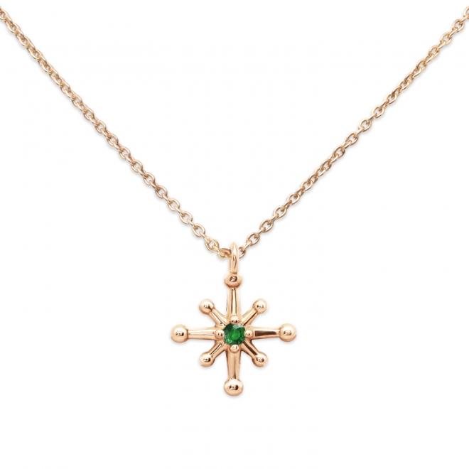 Gold Star shape Diamond Necklace