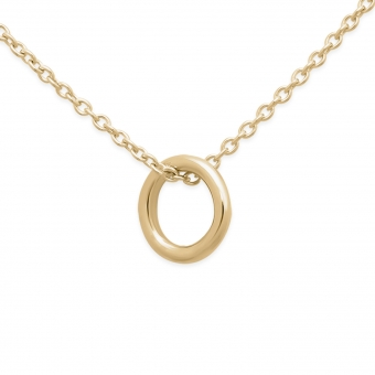 4mm Circle Gold Ring Necklace