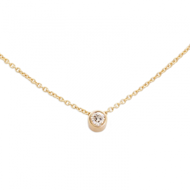 0.55 Ct Diamond Gold Tube Necklace