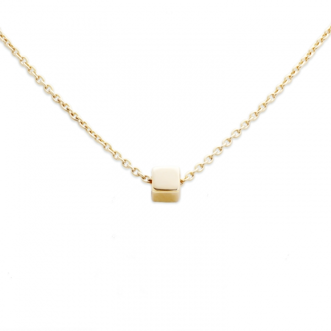 Gold 2.85mm Perfect Square Box Necklace