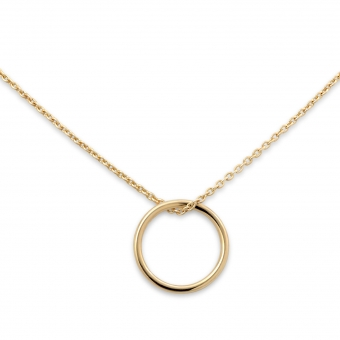 Gold 8mm Ring Necklace