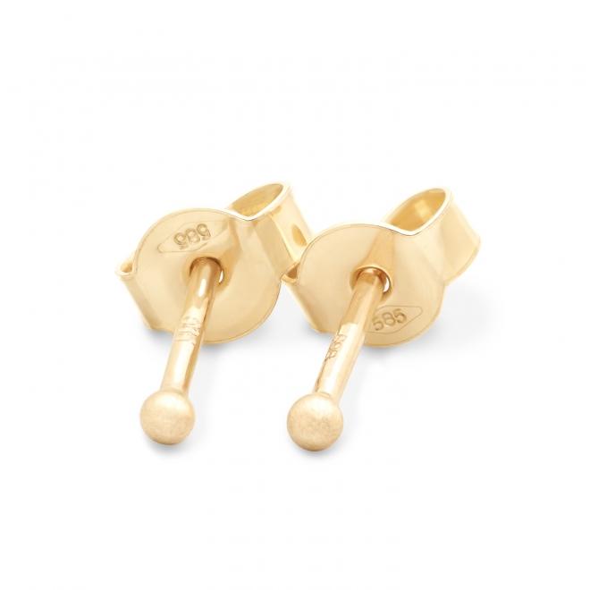 Yellow Gold Plain Ball 1.5mm Stud Earrings SE-1000