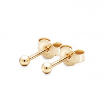 Plain Gold Ball 2.2mm Stud Earrings