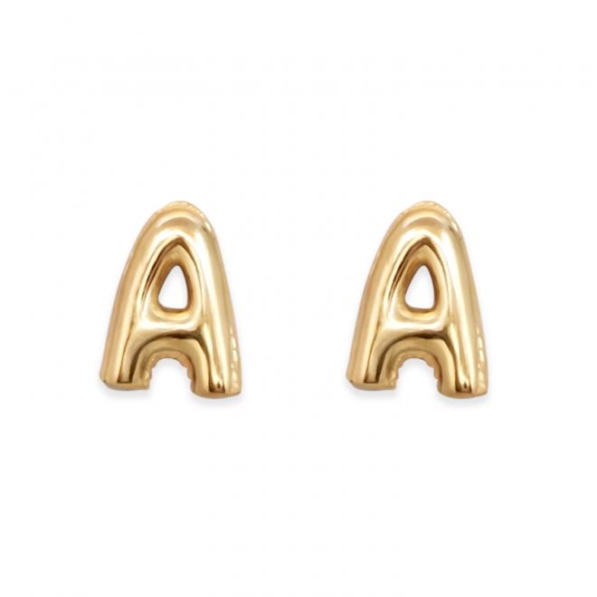 A Letter Shaped Ear Studs