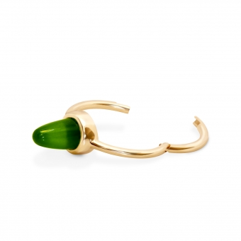 10mm Cabochon Cut Gold Segment Ring