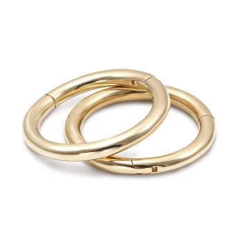 Solid Gold Segment Earrings
