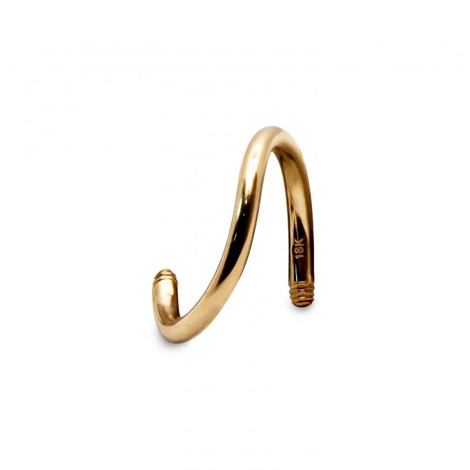 External Threading Solid Gold Spiral Bar