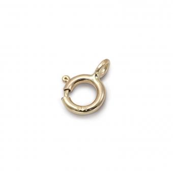 Gold Spring Lock Closure 4.5mm