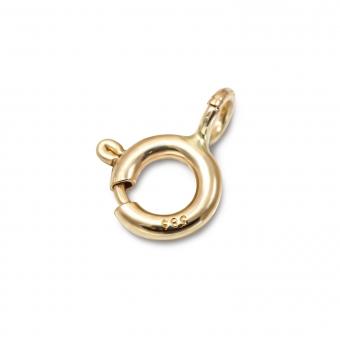 Gold Spring Lock Closure 5mm