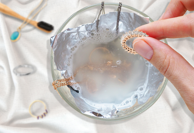 18K gold jewelry cleaning