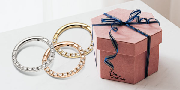 Real Gold Body Jewelry Gift
